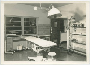 Hospital operating room, 1950s