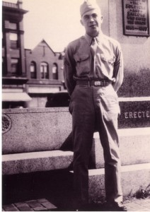 Serviceman Curtis Samuels on Brigde Square