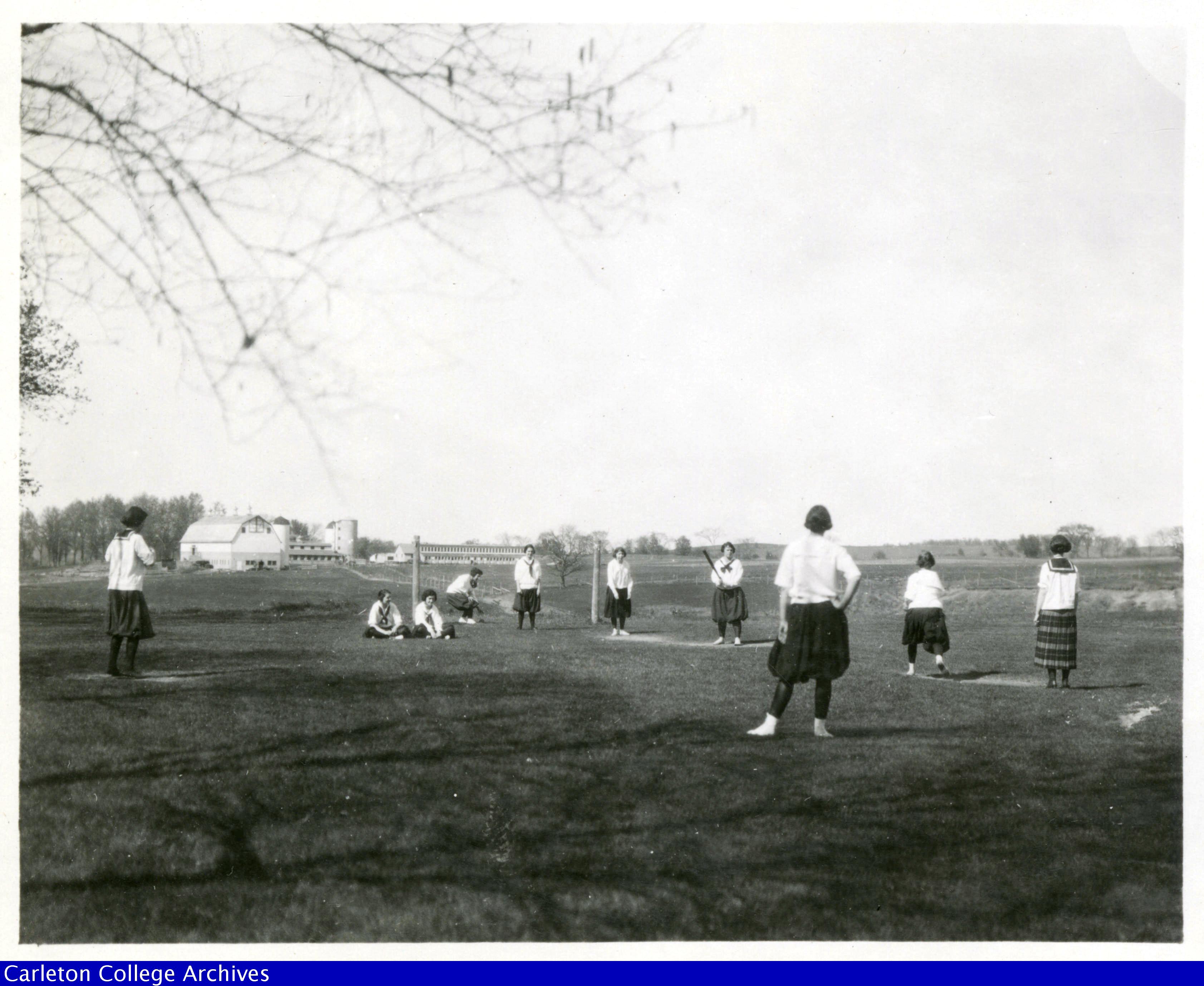 Girls baseball team, Carleton College, 1920s