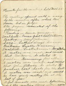 Young People's Society, November 24, 1918