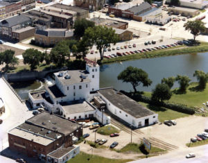 Aerial view of Ames Mill