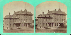 Stereograph of the Archer House shortly after it opened, c. 1880.