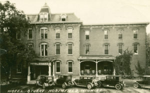 The name changed again to the Hotel Stuart, as seen in this photo from 1920.