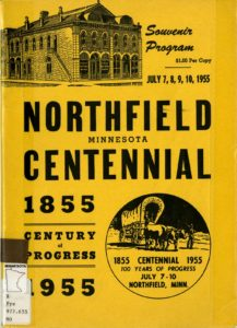 Cover of the Northfield Centennial souvenir program