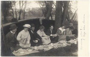 Spring picnic near the Cannon River, 1909.