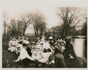 St. John's Lutheran Church Sunday School picnic at Heath Creek, May 1910.