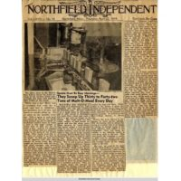 Northfield Independent article on Malt-O-Meal, 1954