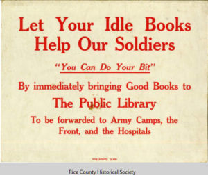 Book collection poster, 1918