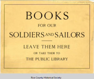 Book collection poster, 1917-1918