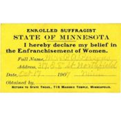 Enrolled Suffragist membership card, 1907