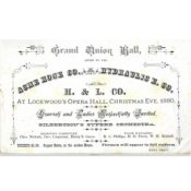Invitation to the Grand Union Ball, Christmas Eve, 1880