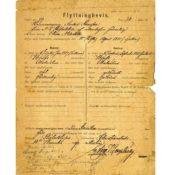 Migration form for Anders Svensson and Elna Nilsdotter