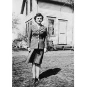 Louise Hadlinger in her World War II uniform