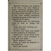 Northfield News notice about Spanish influenza, October 11, 1918