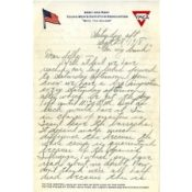 Letter from Fredrick Heiberg to his family, September 28, 1918