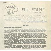 HATPIN newsletter, January 1972