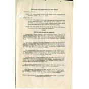 Congregational Church Bulletin for November 3, 1918, restricting vespers service at Carleton