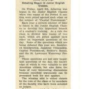 1923 Periscope article on immigration debates in school
