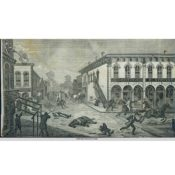 Sketch of the Northfield Bank Raid scene