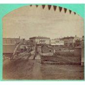 View of Northfield over the Iron Bridge, 1870s