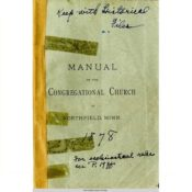 Manual of the Congregational Church, 1878