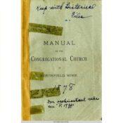 Manual of the Congregational Church, 1878