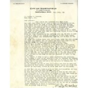 Letter from Northfield Mayor A. O. Netland to Arthur Persons, July 10, 1918