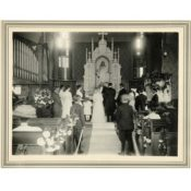 Wedding in St. John's Lutheran Church Sanctuary, 1909