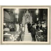 Wedding in St. John's Lutheran Church Sanctuary, 1909