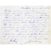 Bank minutes about Heywood's widow, September 18, 1876