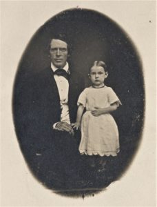 Northfield founder John W. North and his daughter, Emma, in 1855. Find this primary source along with others in the Settlement & Immigration Primary Source Set on the Northfield History Collaborative.