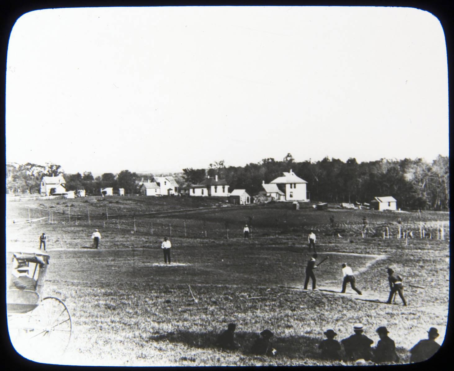 Early baseball game in Northfield, 1887