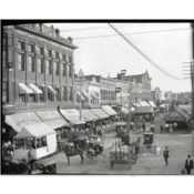 Carnival and Ferris Wheel on Division Street, c. 1890
