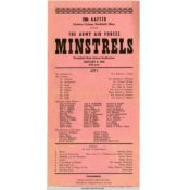 Carleton's Army Air Forces minstrels show program