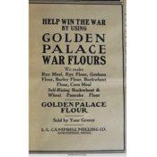 Golden Palace Flour advertisement