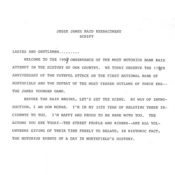 Defeat of Jesse James Days reenactment script, 1993