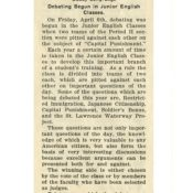 1923 Periscope article on immigration debates in school