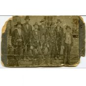 """Magnificent Seven"" posse that captured the gang, 1876"