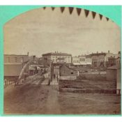 View of Northfield over the Iron Bridge, 1870s