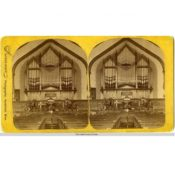 Interior of Congregational Church with New Pipe Organ, c. 1884