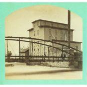Ames MIll and Iron Bridge, c. 1885